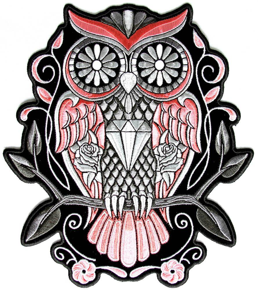 Sugar Skull Owl | Sugar Owl badge | Sugar Skull Animals | Pinterest ...