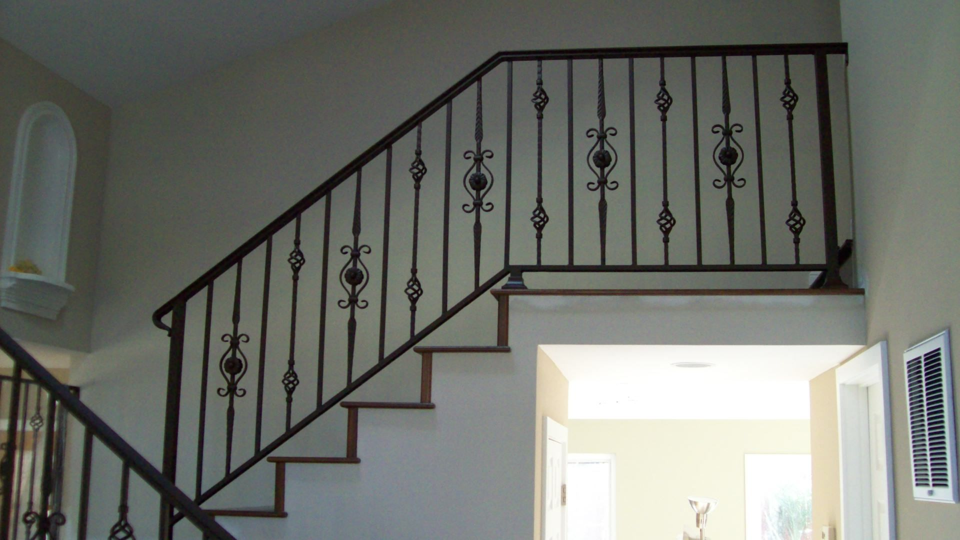 Minimalist 29 Iron Staircase Railing Designs Metal And Wrought