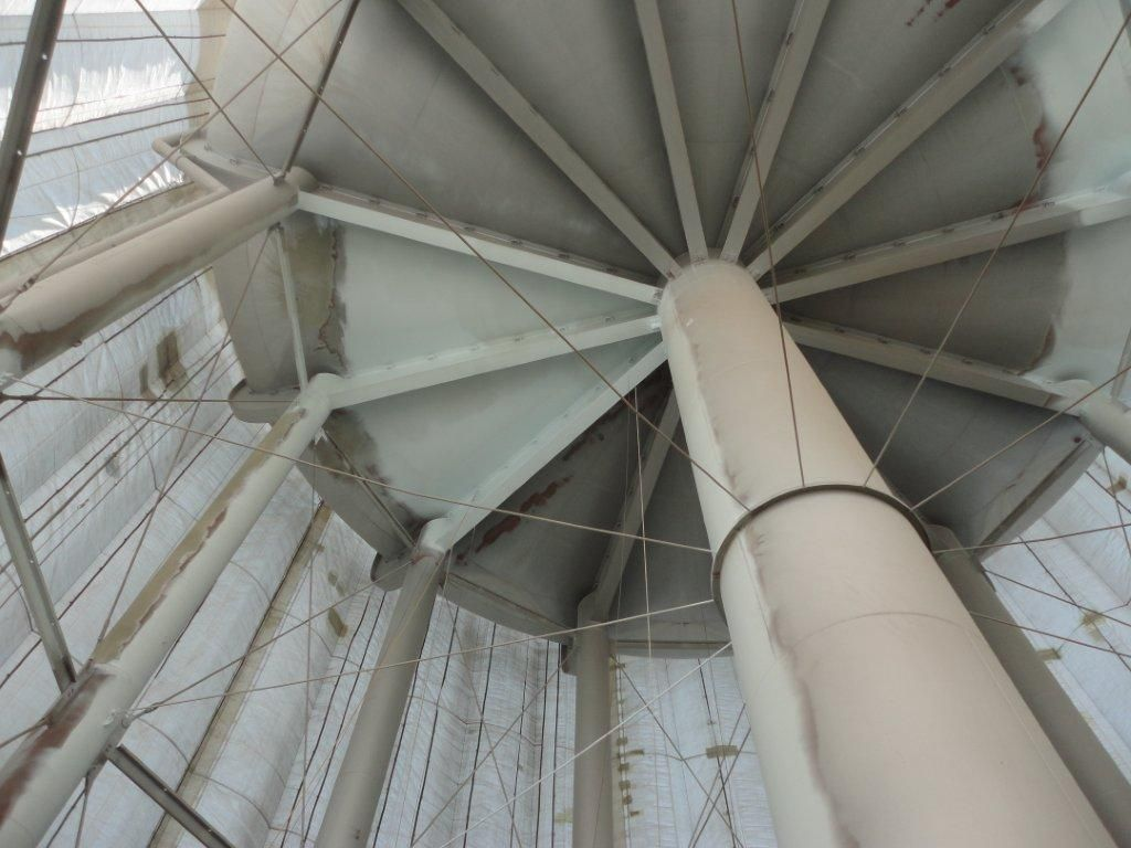 Tmi Coatings Applying Industrial Paint Coating To Water Tower With