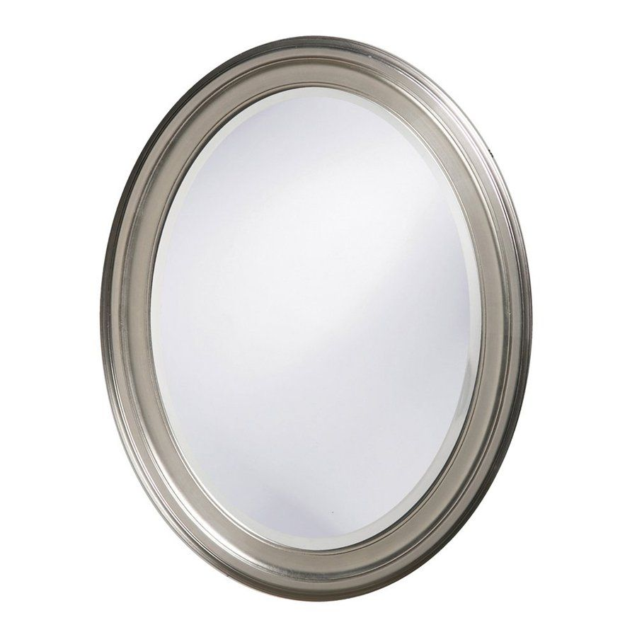 Tyler Dillon George 25-In X 33-In Brushed Nickel Beveled Oval Framed ...