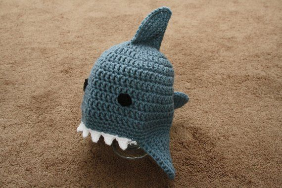 Crocheted Baby Shark Hat  e744a68c2bfa