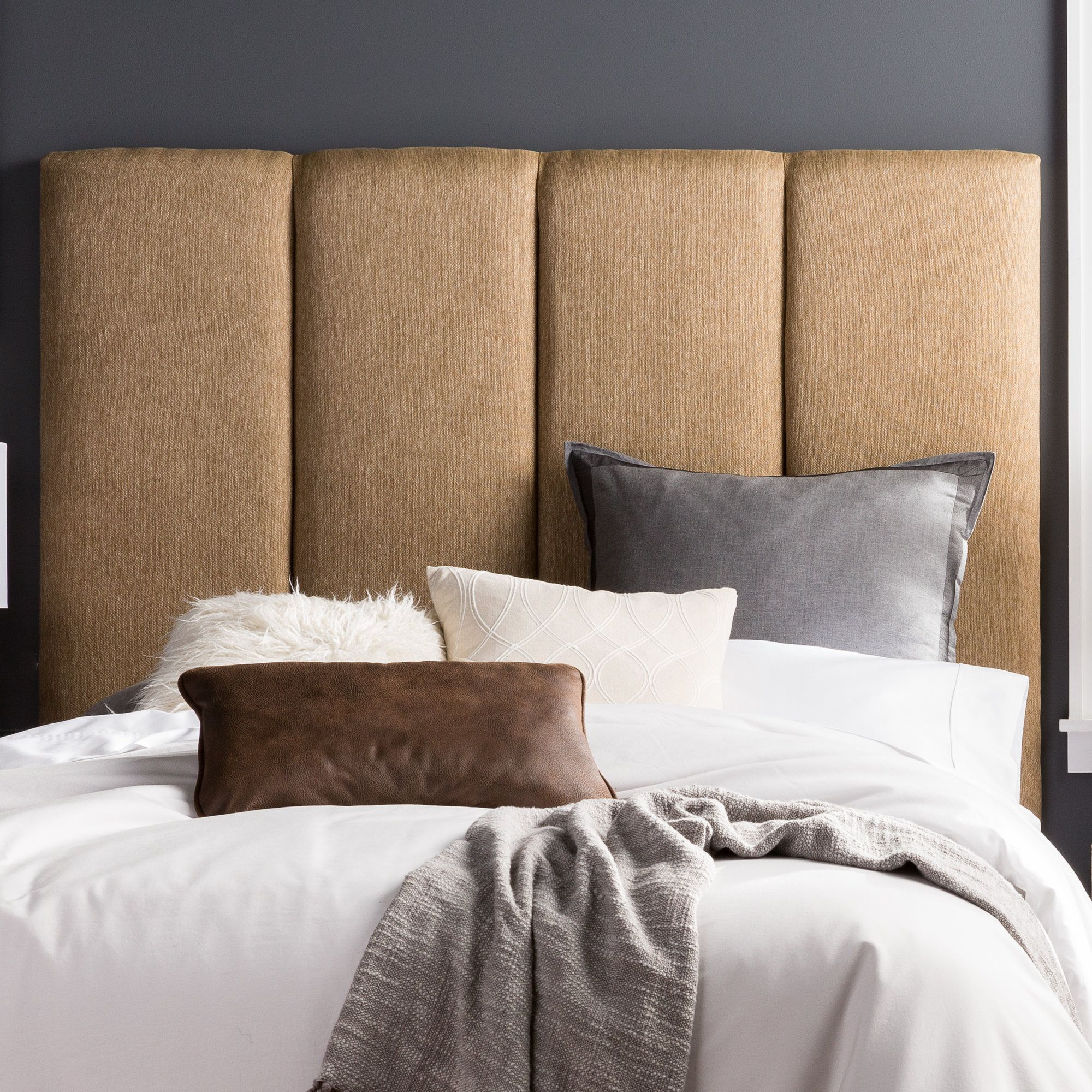 Best Lytle Upholstered Panel Headboard Cabeceira Cabeceiras 640 x 480