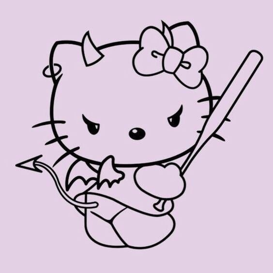 Helloy Kitty In 2020 Hello Kitty Pictures Hello Kitty Tattoos Kitty