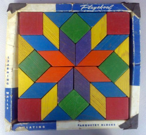Vintage Playskool Parquetry Blocks Omg I Loved Playing With These
