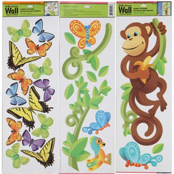 Wall Stickers That Can Be Reused In Baby Nursery Found At Dollar Tree.