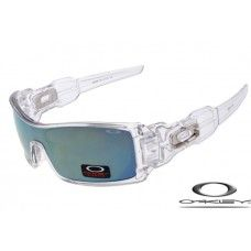 485919b852c Oakley Oil Rig Sunglasses Clear Frame   Gray Lens