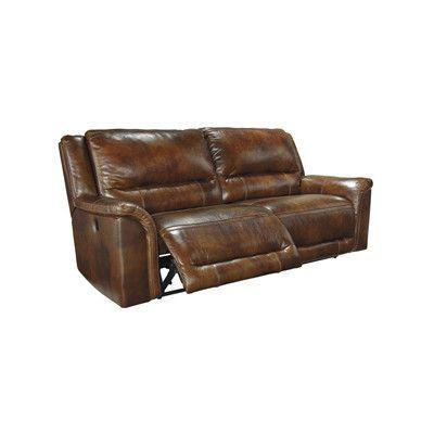Signature Design By Ashley Jayron 2 Seat Reclining Leather Sofa Type