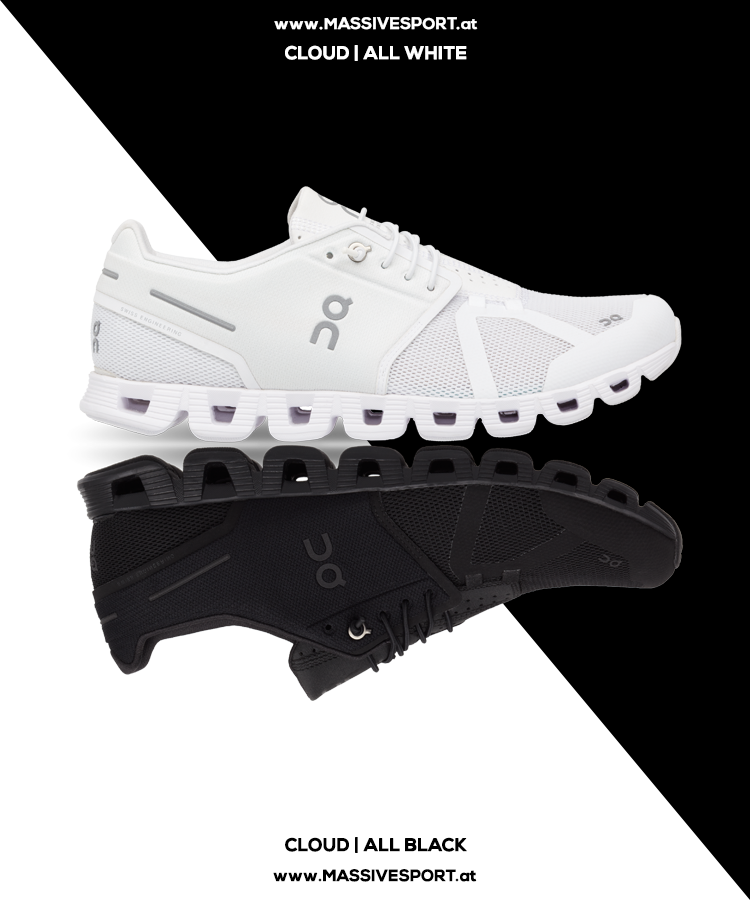 Cloud ALL WHITE & ALL BLACK | Blickfang Kerstin | Laufschuhe