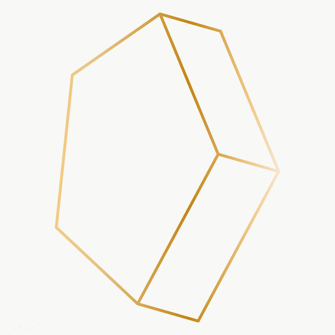 Minimal Gold Pentagonal Prism Shape Transparent Png Free Image By Rawpixel Com Katie Vector Background Pattern Shapes Prism Pattern