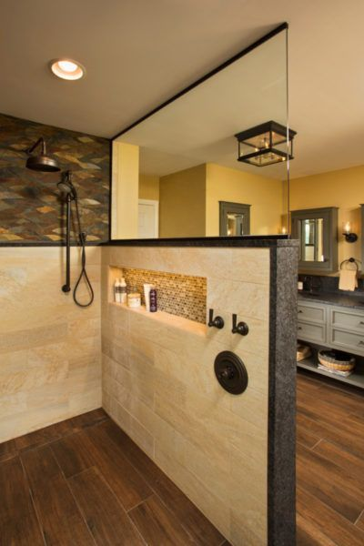 This Spacious Walk In Shower Feels Like Its Own Room