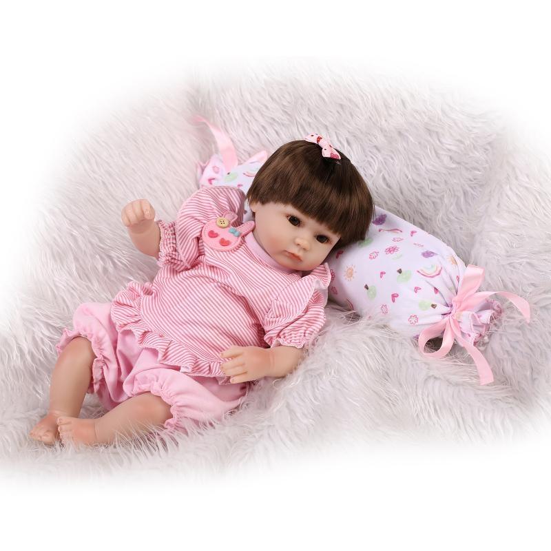 58.01$  Watch now - http://alihmd.worldwells.pw/go.php?t=32663818577 - 42CM Silicone reborn babies dolls for sale children toddler dolls for girls  children gift bonecas