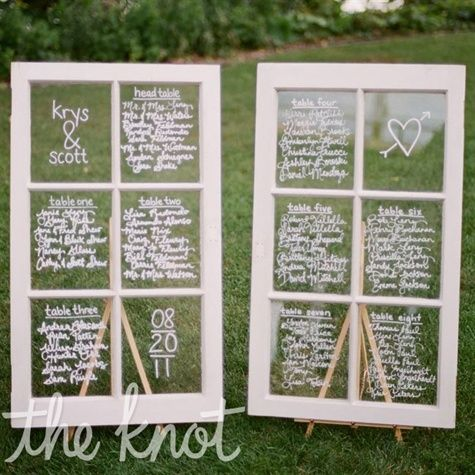 how to make table assignment cards