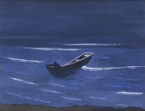 Léon Spilliaert (Belgian, 1881-1946), Nocturne, 1925. Gouache, 51 x 66 cm.