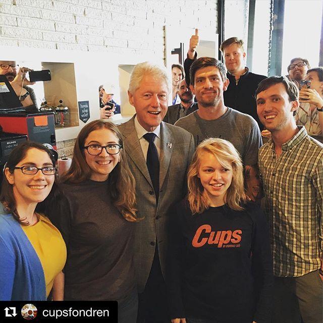 Bill Clinton hanging out at @cupsfondren . NBD. #Jackson #billclinton Reposted Via @tsgjackson