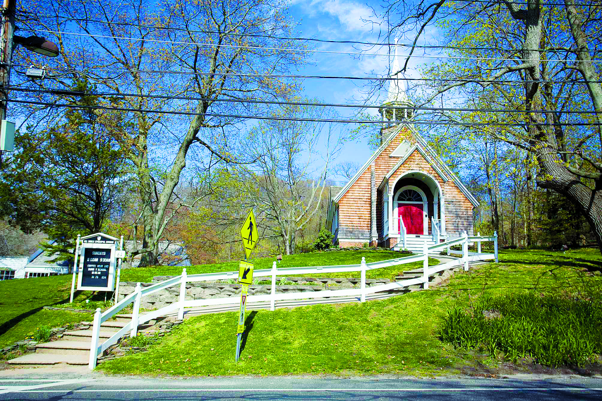 The All Souls Episcopal Church Is Located In The Heart Of Stony Brook Village Photo Credit Heather Walsh Episcopal Church Village Mansions