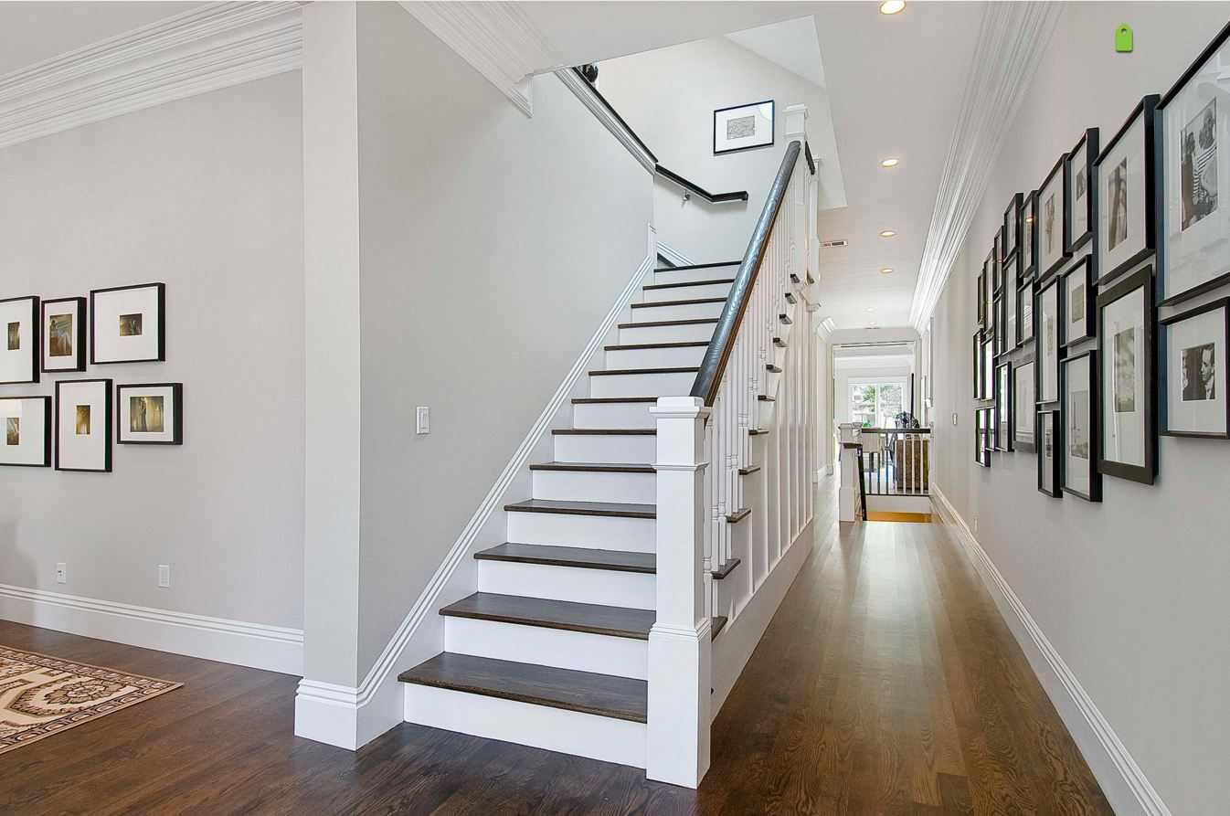 Balboa Mist Benjamin Moore Paint Traditional Staircase Perfect Paint Color House Design