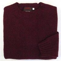 O'Connell's Womens Scottish Shetland Crewneck Sweater - Bordeaux