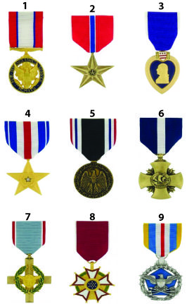 can you name all 9 U S  military medals? | Military Awards