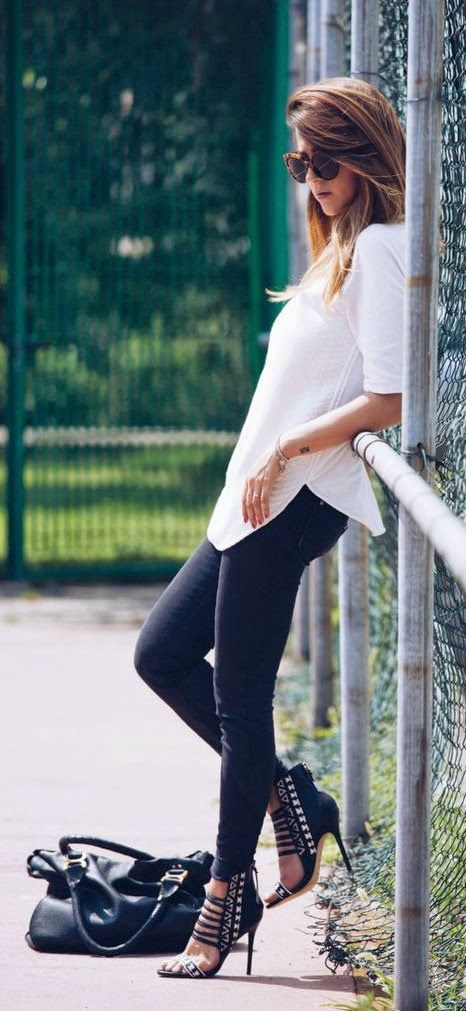 Everyday New Fashion: BLACK AND WHITE OUTFIT