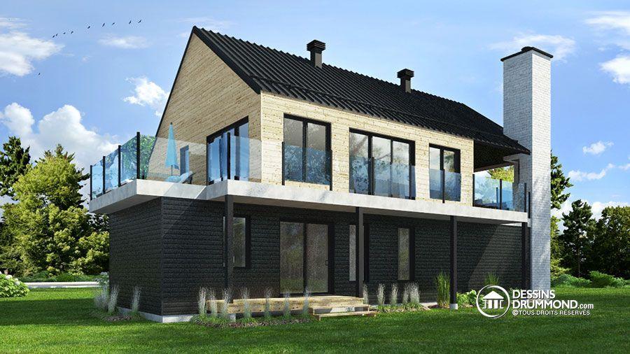 Détail du plan de Maison unifamiliale W3891 Maison de style