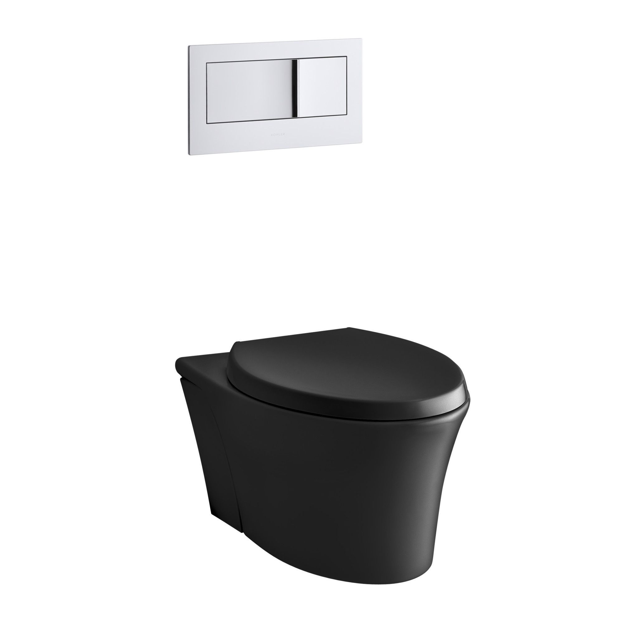 Veil One Piece Elongated Dual Flush Wall Hung Toilet With Reveal Quiet Close Seat Wall Mounted Toilet Toilet Wall Hung Toilet