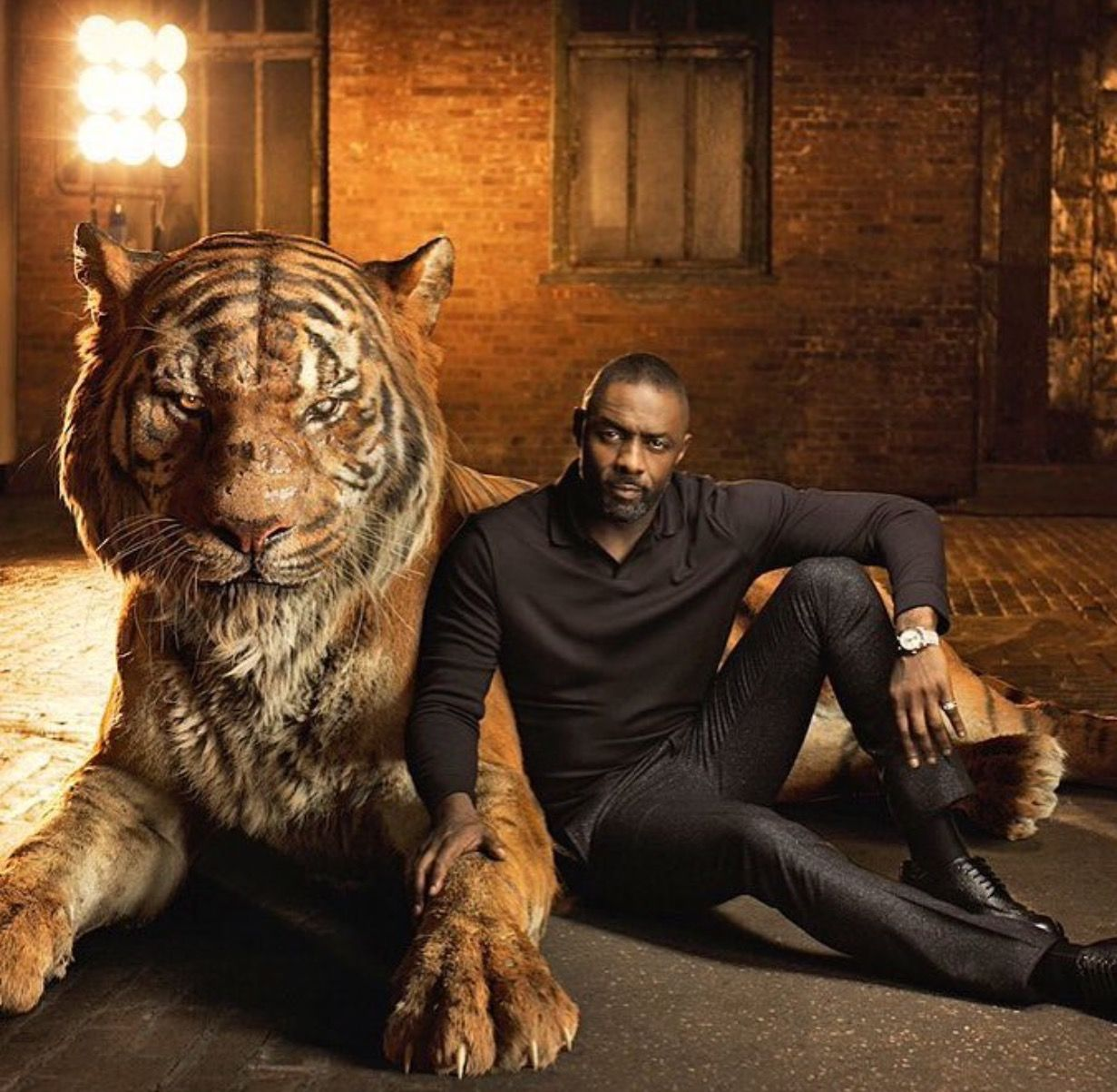 Idris elba as shere khan from the jungle book cast portraits shere khan reigns with fear elba says of the tiger he terrorizes everyone he encounters