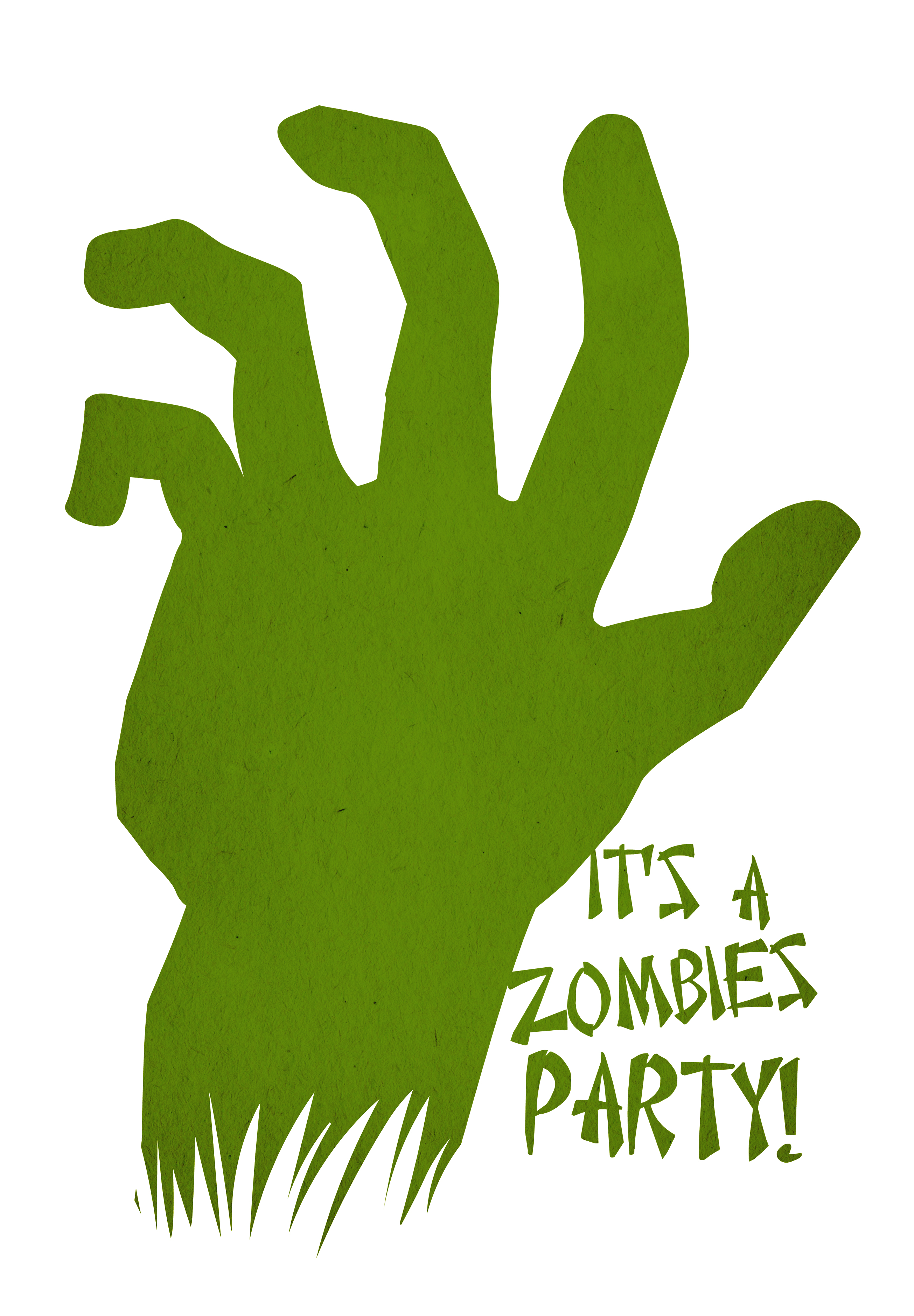 zombies party free printable halloween invitation template