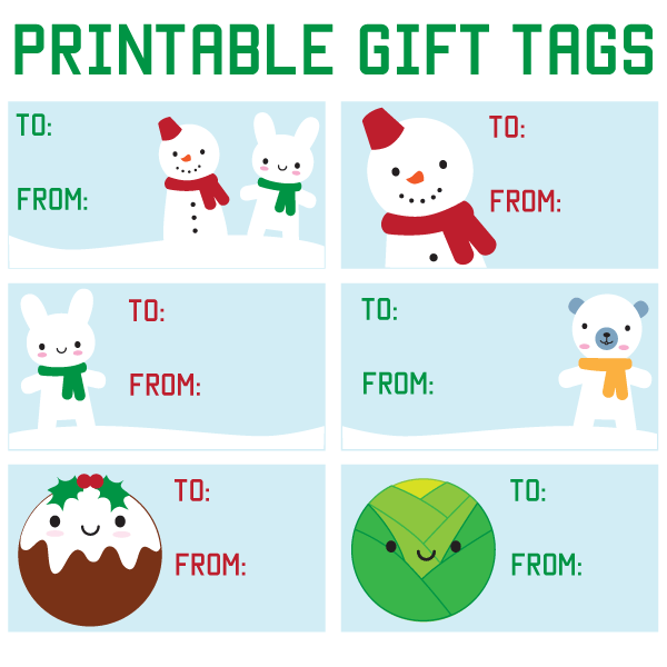It is a picture of Epic Cute Gift Tags Printable