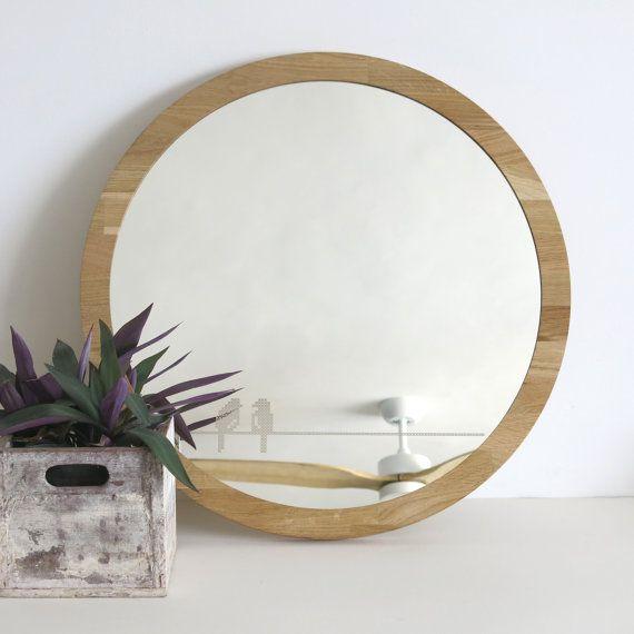 Large Round Mirror Birds Cross Stitch Mirror By Studiorust