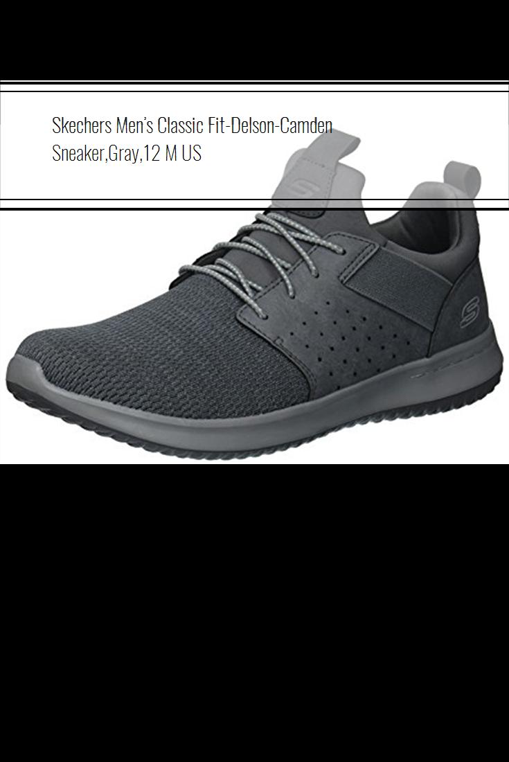 Skechers gray Camden 12 Men's UsGray M Sneaker Delson Classic Fit OZlwPTkXiu