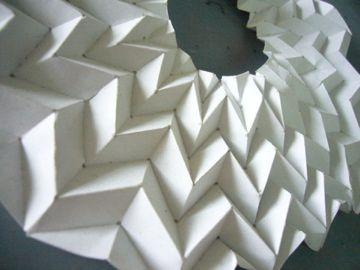 zigzag accordion fold circular