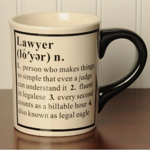 lawyer lawyers gifts mug definition legal law coffee gift quotes tumbleweed humor attorney mugs stuff paralegal occupational custom funny cup