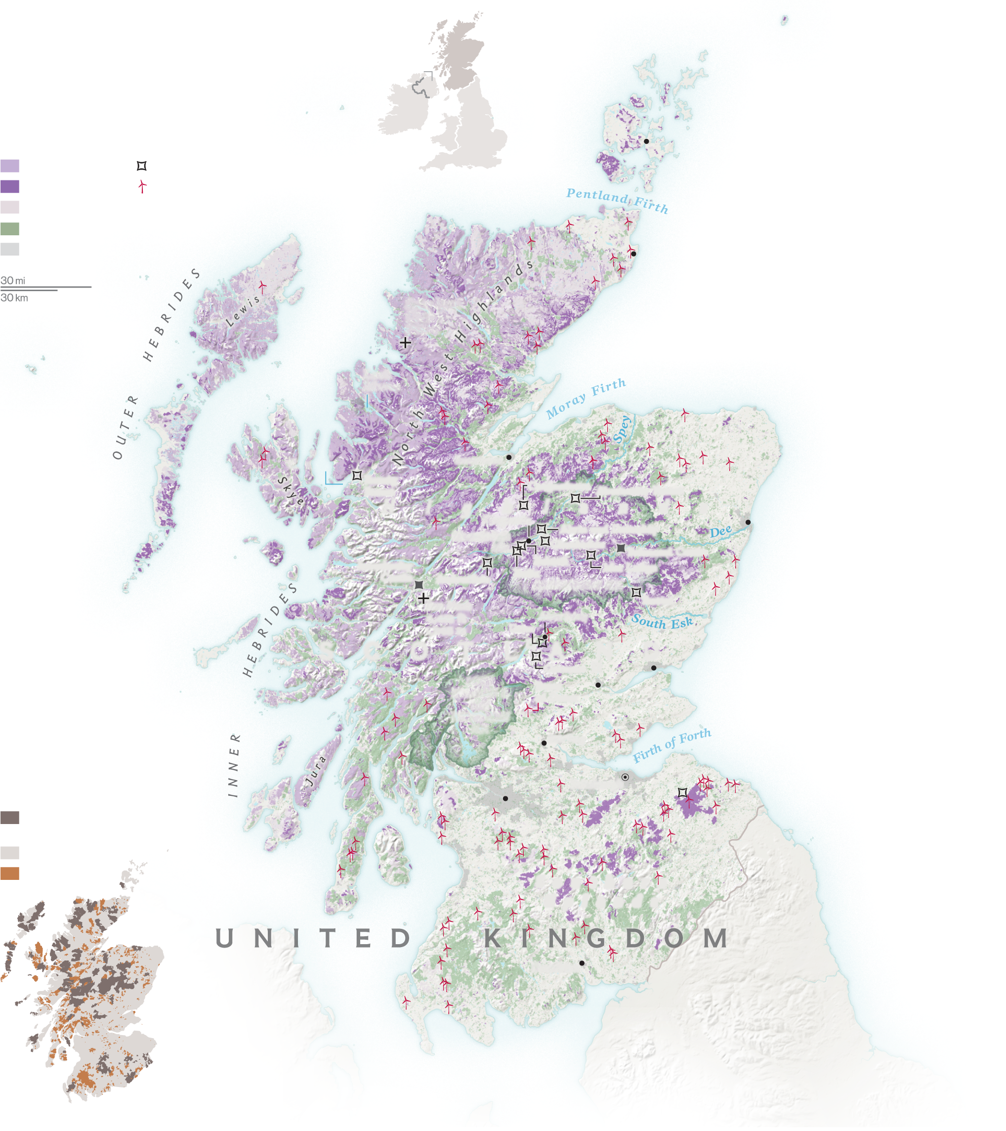 What Will of Scotland's Moors? Scotland map