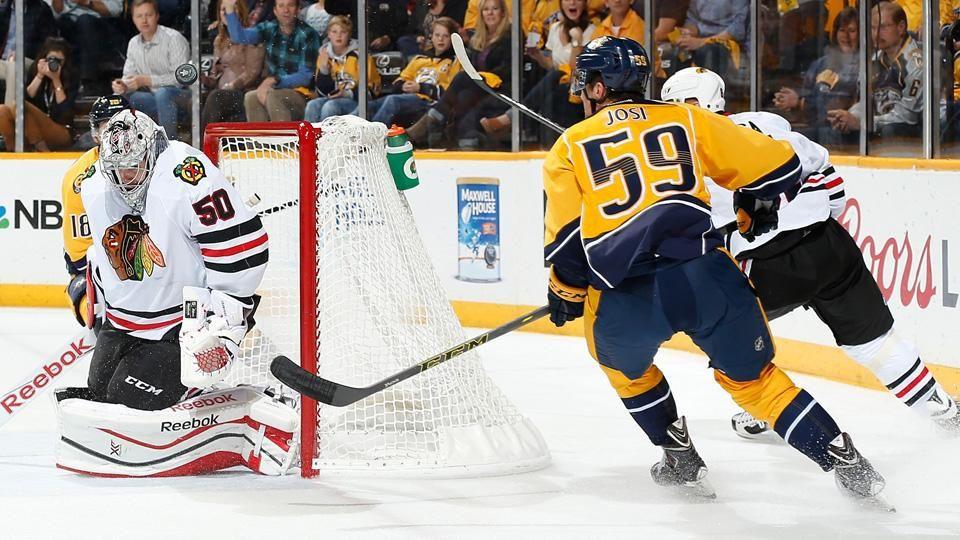 Late burst propels Predators past Blackhawks in Game 2 to even series Blackhawks  #Blackhawks