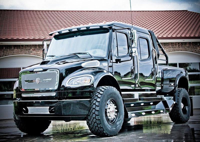 How Many Pickups Do You Know Of Built On A Freightliner Chassis That Can Be A Daily Driver Without The Need Of A C Freightliner Big Trucks Freightliner Trucks