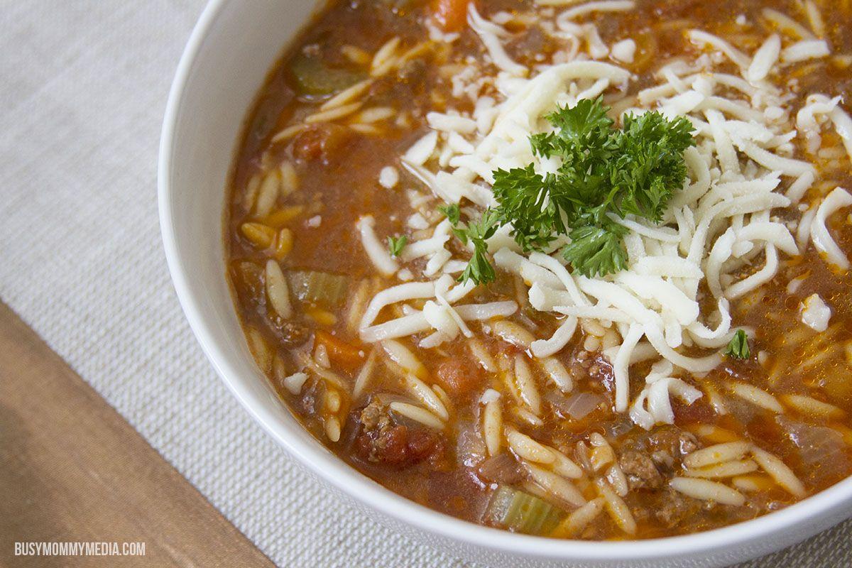 instant pot hamburger orzo soup  recipe  instant pot