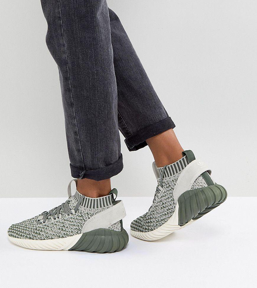 adidas Originals Tubular Doom Sock Sneakers In Green