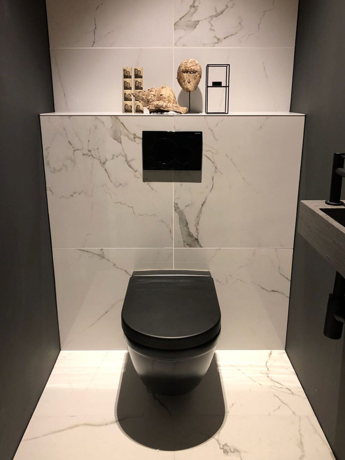 Calacatta Marmerlook Tegels in het Toilet