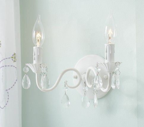 Pottery barn kids ceiling and wall lighting makes a beautiful addition to a bedroom or nursery