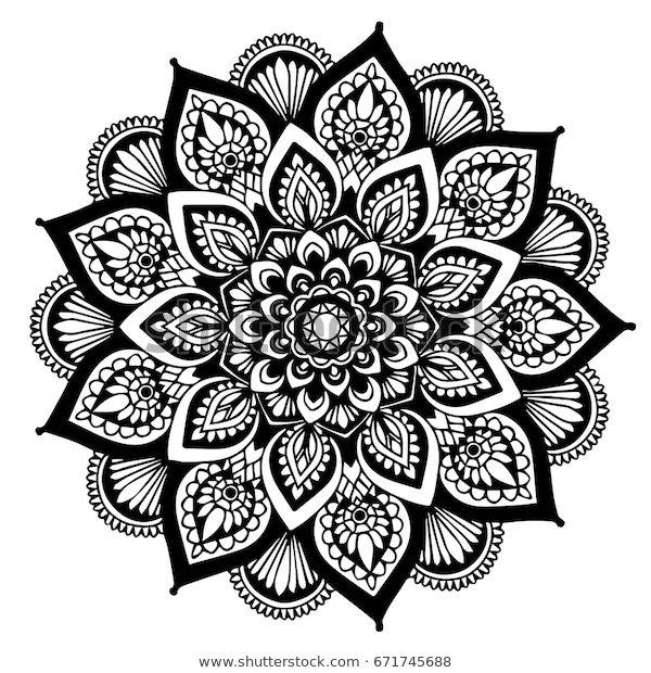 Photo of Vetor stock de Mandalas Coloring Book Decorative Round Ornaments (livre de direitos) 671745688
