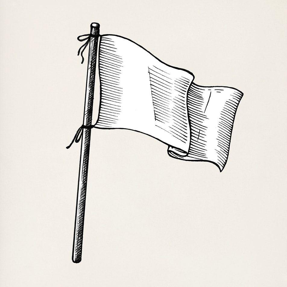 Hand Drawn White Flag Isolated On Background Premium Image By Rawpixel Com Lukisan Seni Desain Seni