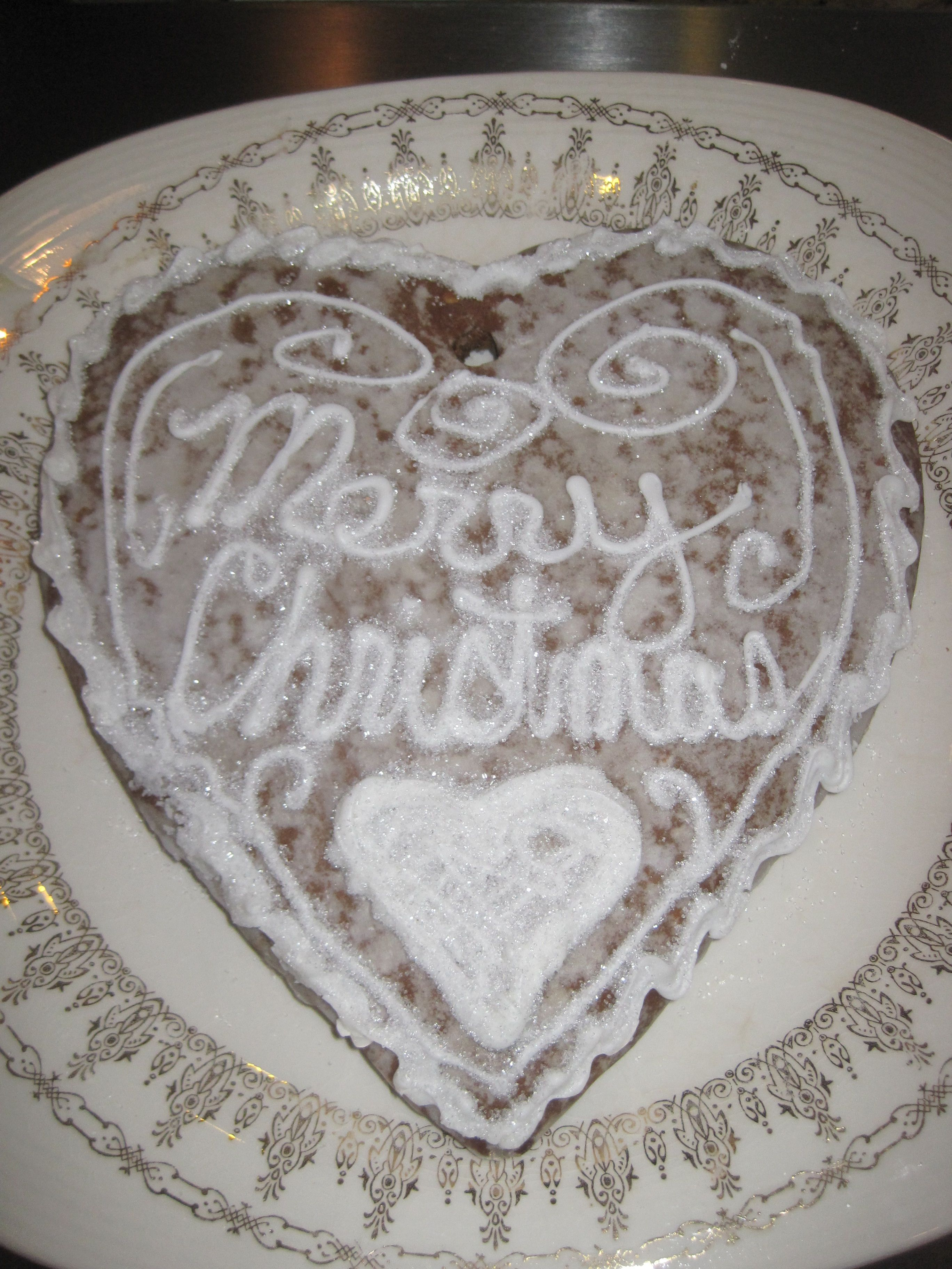 Giant gingerbread heart by nancy bortz