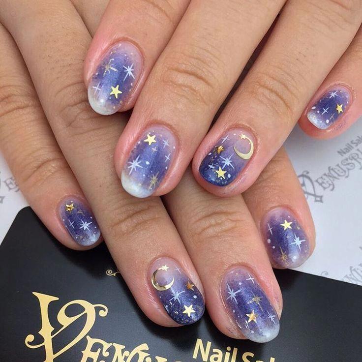 Pin By Aleena Kimberly On Nails Purple Nails Star Nail Art Star Nails