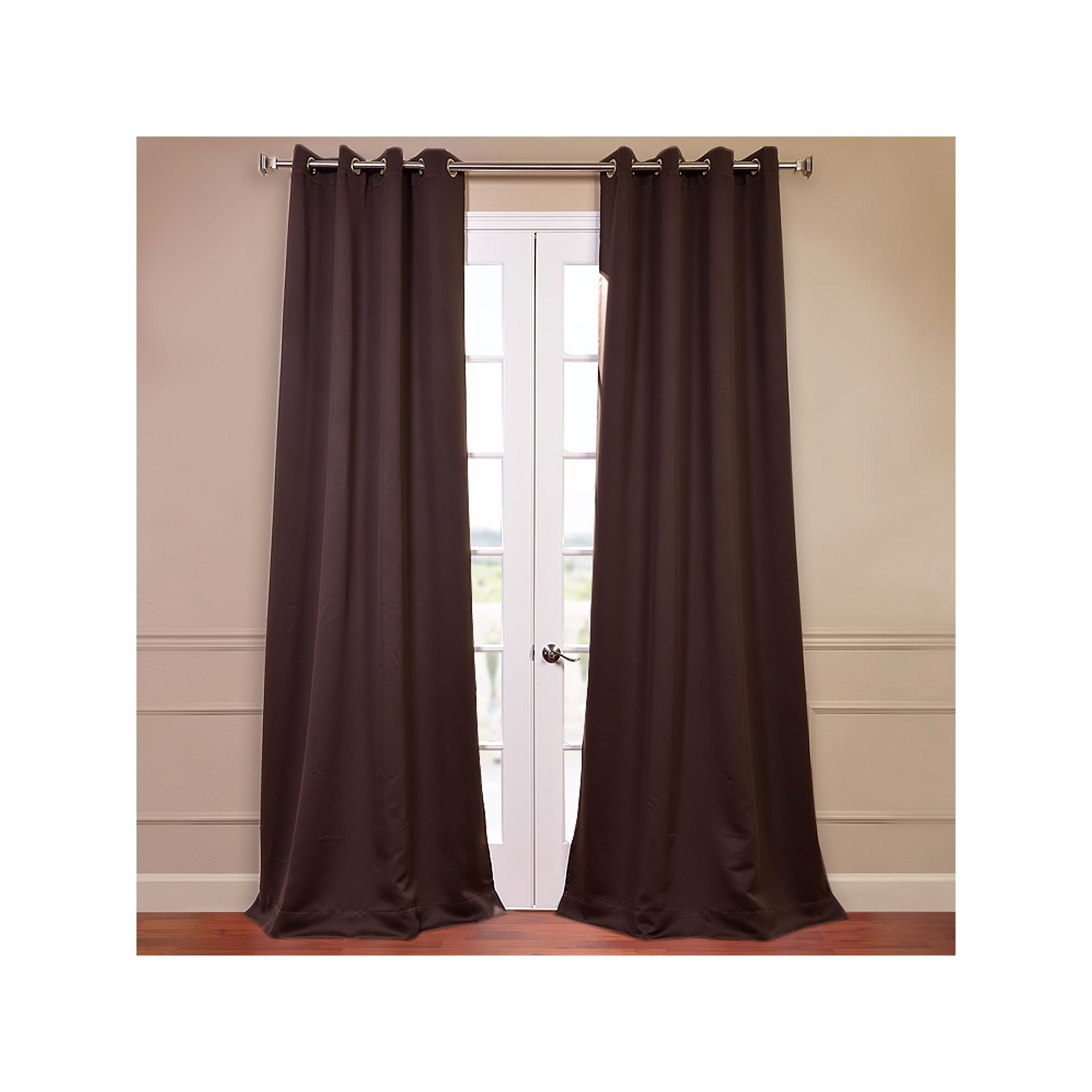 Eff solid blackout window curtain set green products
