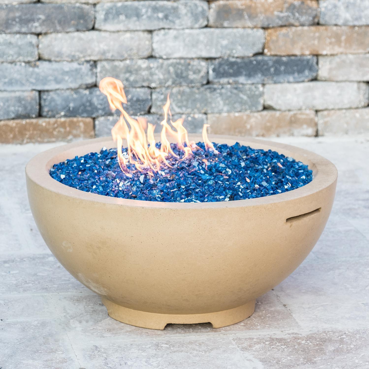 Bbqguys gfrc 32 propane gas fire bowl tan 733cb11