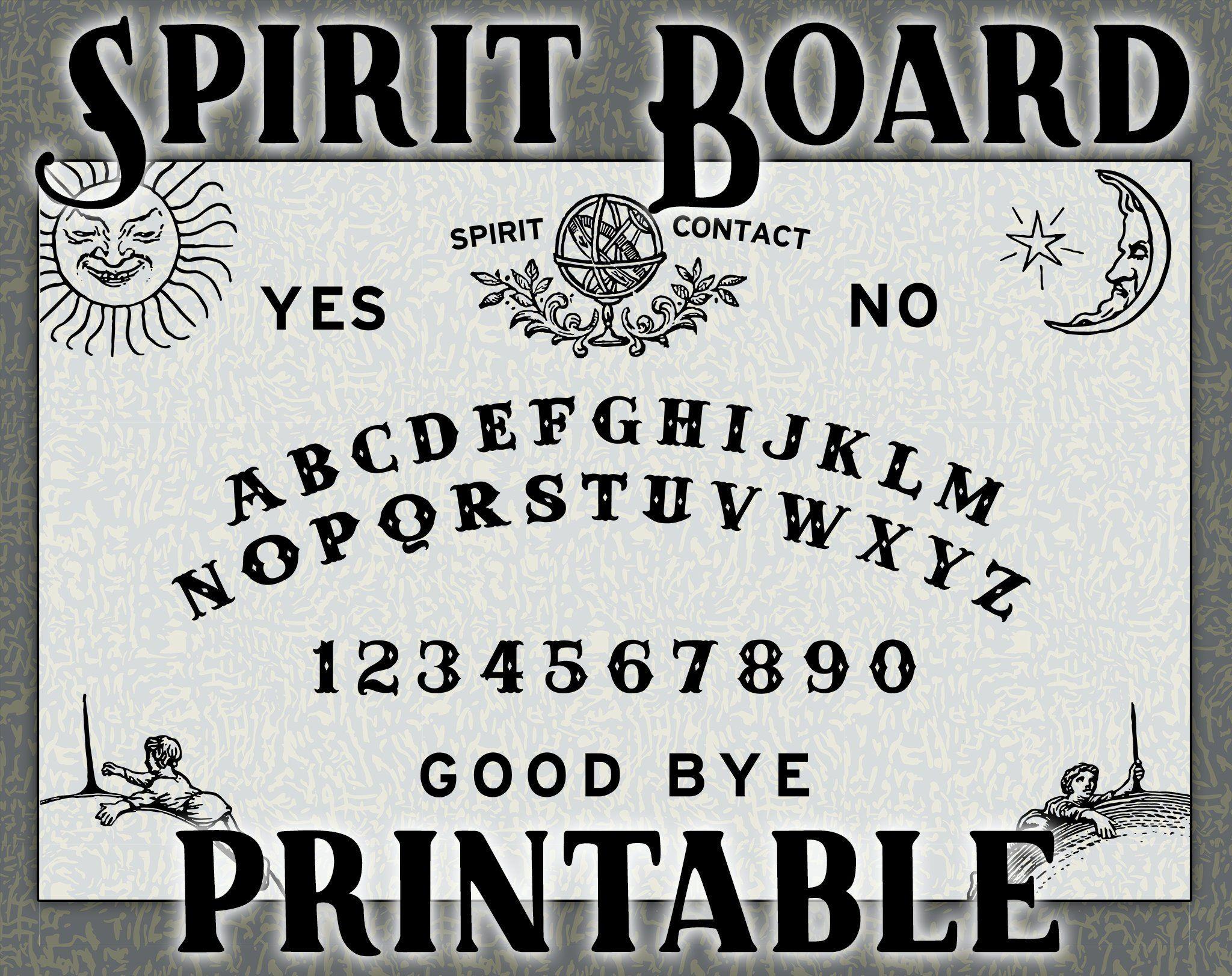 Printable Spirit Board Ouija Template Pdf Svg Png Ai Spirit Board Ouija Templates
