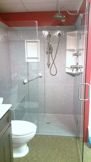 Onyx Collection Shower Snow Swirl Onyx Shower Find This Pin And - Onyx bathroom remodel