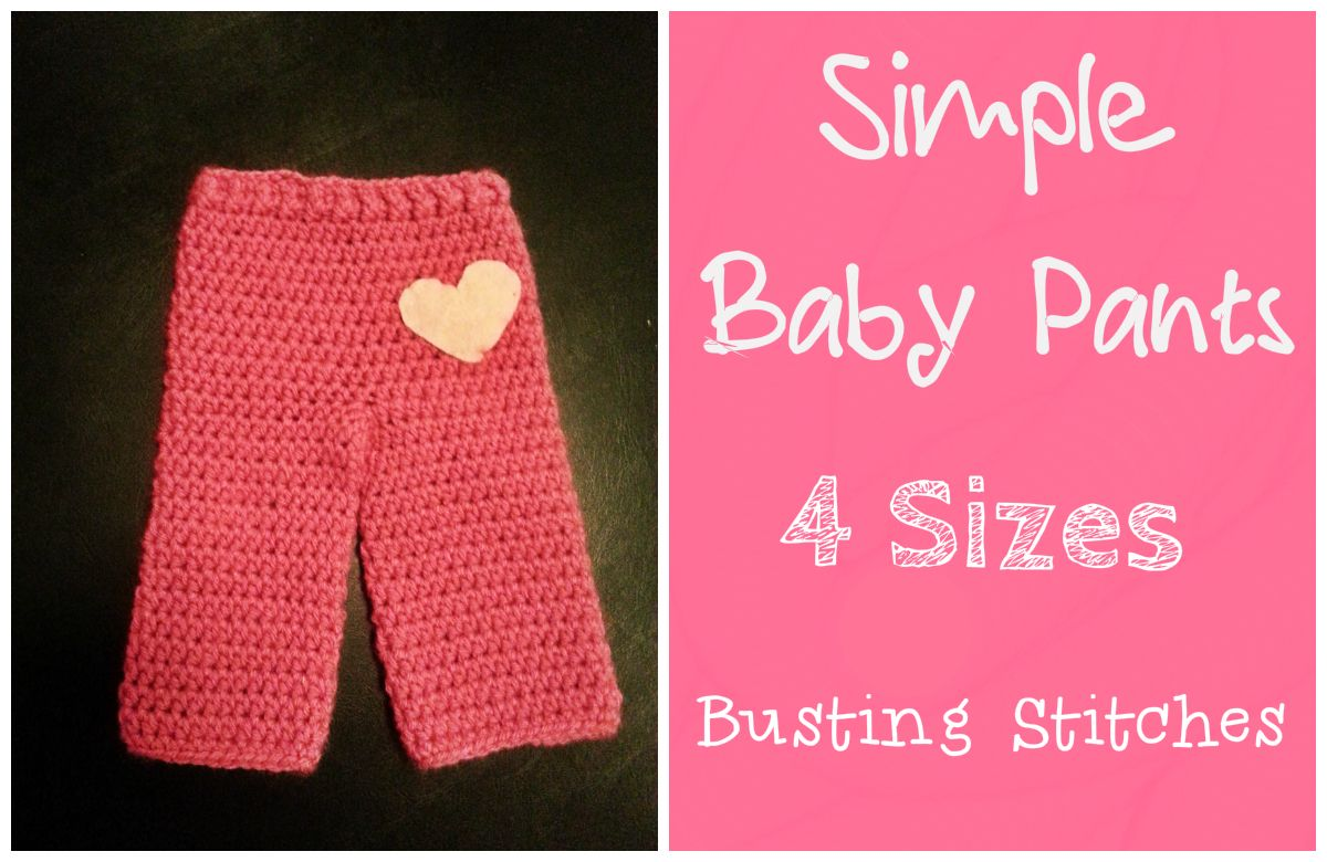 Simple Baby Pants Crochet Baby Clothing Items Pinterest