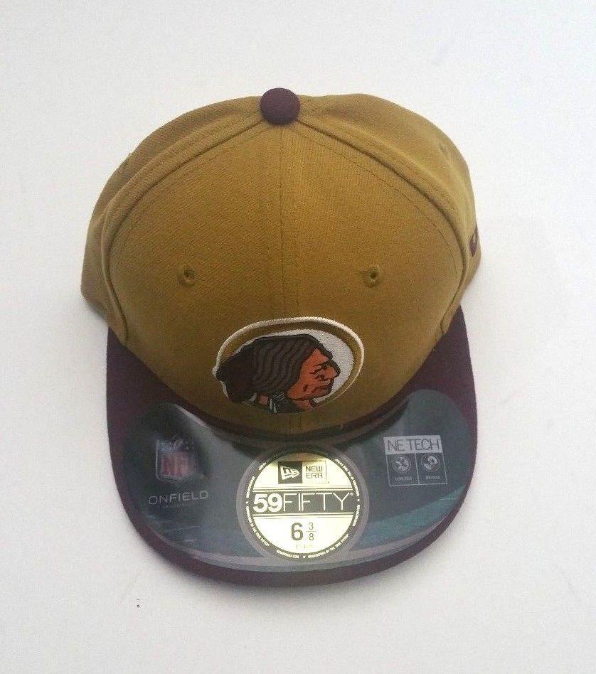 abee011c2 New Era Washington Redskins 59Fifty Mustard/Burgundy Brim Fitted Hat ...