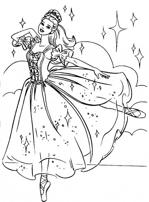 Barbie Princess Amazing Dance Coloring Page